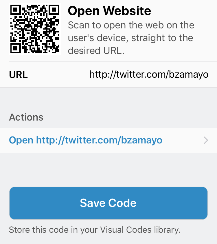 Visual Codes - QR Code Generator for iPhone and iPad